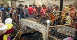 মুরাদনগরে সিএনজি গ্যারেজে রহস্যজনক আগুনে ১৮টি গাড়ি ভষ্মিভূত