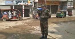 জেলাজুড়ে করোনা প্রতিরোধে কাজ করছে সেনাবাহিনী