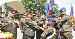 কুমিল্লা সেনানিবাসে রেজিমেন্টাল কালার প্রদান অনুষ্ঠান