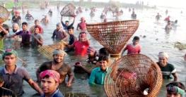 জেলার জলাশয় গুলোতে মাছ ধরার ধুম