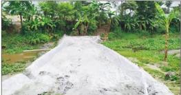 ব্রাহ্মণপাড়ায় অবৈধ ভাবে সরকারি খাল ভরাট করে রাস্তা নির্মাণ