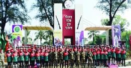 মুজিববর্ষ সাইক্লিং এক্সপেডিশন দল কুমিল্লা সেনানিবাসে