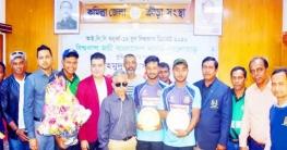 কুমিল্লায় অনুর্ধ্ব -১৯ জাতীয় দলের খেলোয়াড়দের সংবর্ধনা