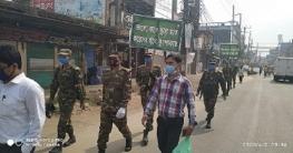কুমিল্লাজুড়ে কঠোর অবস্থানে সেনাবাহিনী , ৪ জনকে জরিমানা